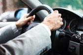 Detalhe de motorista — Foto Stock