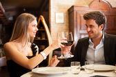 Middag på en lyxig restaurang — Stockfoto
