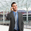 Businessman talking on the phone — Stock Photo #23282462
