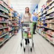 Shopping at the supermarket — Stock Photo #23284138