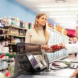 Shopping at the supermarket - Stock Photo