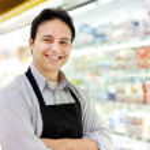 Shopkeeper portrait — Stock Photo