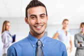 Smiling leader — Stock Photo