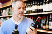 Wine shopping — Stock Photo