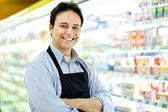 Shopkeeper portrait — Stock Photo