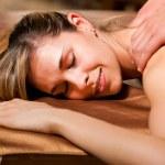 Woman getting a massage — Stock Photo