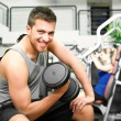 Man doing fitness - Stock Photo