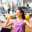Royalty-Free Stock Photo: Woman working out in a fitness club