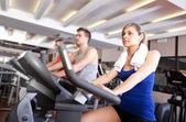 Doing fitness — Stock Photo