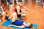 Woman doing fitness — Stock Photo