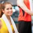 Fitness Frau portrait — Stockfoto