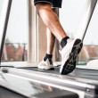 Stock Photo: Mrunning on treadmill