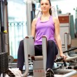 Woman doing fitness — Foto de Stock