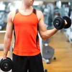 Man doing fitness — Stock Photo