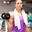 Woman doing fitness — Stock Photo