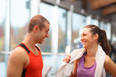 In a fitness club — Stock Photo