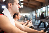 Man training in a fitness club — Stock Photo