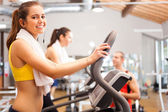 Woman training in a gym — Stock Photo