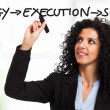 Strategy, execution, success - Stock Photo