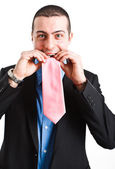 Funny businessman — Stock Photo
