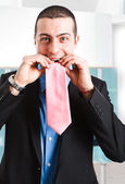 Portrait of a funny businessman — Stock Photo