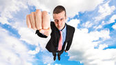 Superbusinessman — Stock Photo