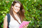 Young beautiful student portrait — Stock Photo