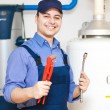 Hot-water heater service — Stock Photo #27203725