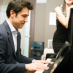 piyano adam — Stok fotoğraf