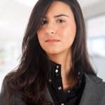 Beautiful businesswoman isolated on white — Stock Photo