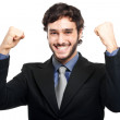 Winner businessman — Stock Photo