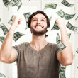 Money rain — Stock Photo