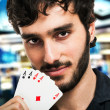 Gambler portrait — Stock Photo #29924035