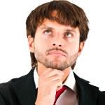 Thoughtful businessman portrait — Stock Photo