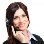Call center operator portrait — Stock Photo