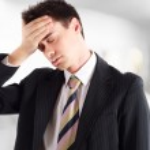 Stressed businessman portrait — Stock Photo
