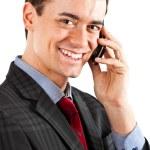 Businessman talking at phone. — Stock Photo