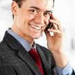 Stock Photo: Businessman talking at phone.