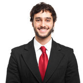 Young handsome businessman portrait — Stock Photo