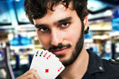 Gambler portrait — Stock Photo