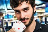 Gambler portrait — Stock Photo