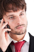 Businessman cell phone — Stock Photo