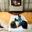 Couple watching a movie — 图库照片