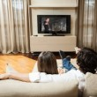 Couple watching a movie — Foto de Stock