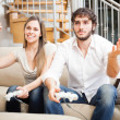 Couple playing video games — Stock Photo #30021389