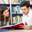 People studying together in a library — Stock Photo #30026717