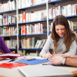 Students in library — Stock Photo #30027369