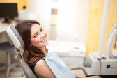 Woman at the dentistry — Stock Photo