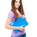 Beautiful female student portrait — Stock Photo