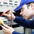 Portrait of an electrician at work — Stock Photo #30136813
